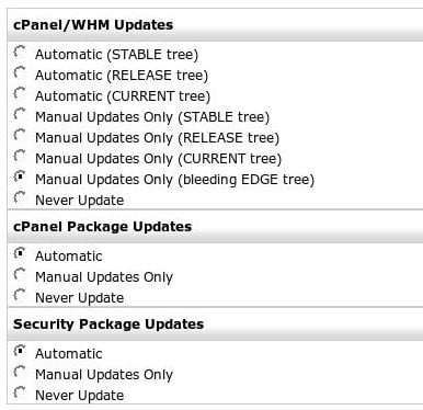 Upgrade WHM / cPanel Linux server to EDGE release