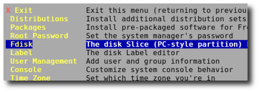 Fig.02: Select Fdisk and press [enter]