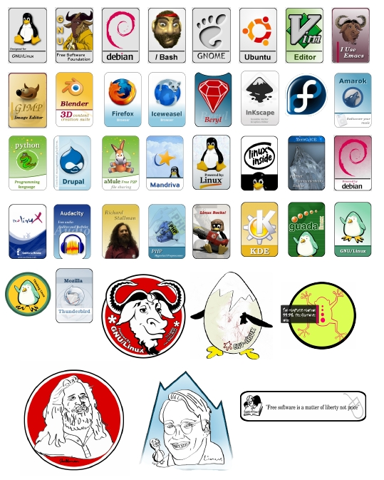 Download Linux and Free Software Sticker