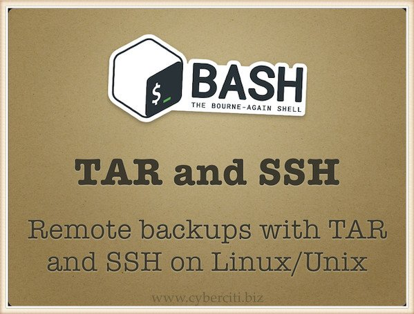Tar over ssh on Linux or Unix