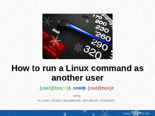 Linux Run Command As Another User