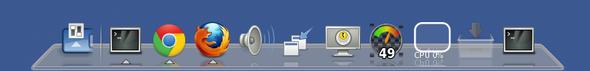 Debian Linux Avant Window Navigator Startup Screenshot