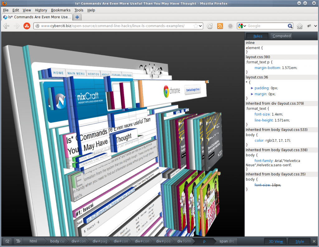 Fig.03: 3D view in action