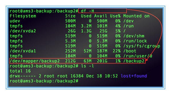 Fig.01: Encrypted partition mounted on /backup2