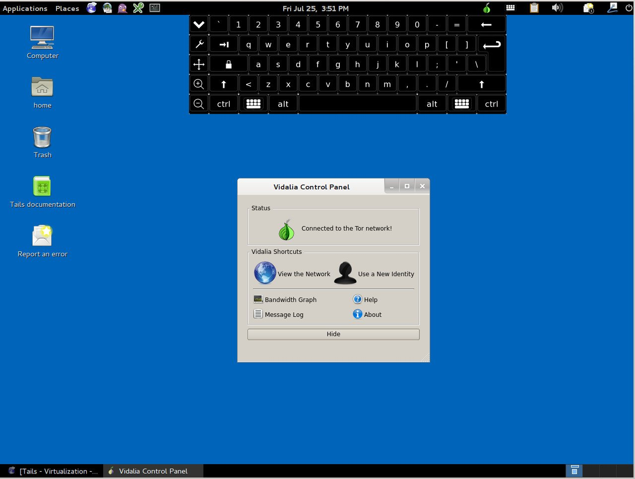 Installing Tails Live Linux Operating System For Preserving Privacy