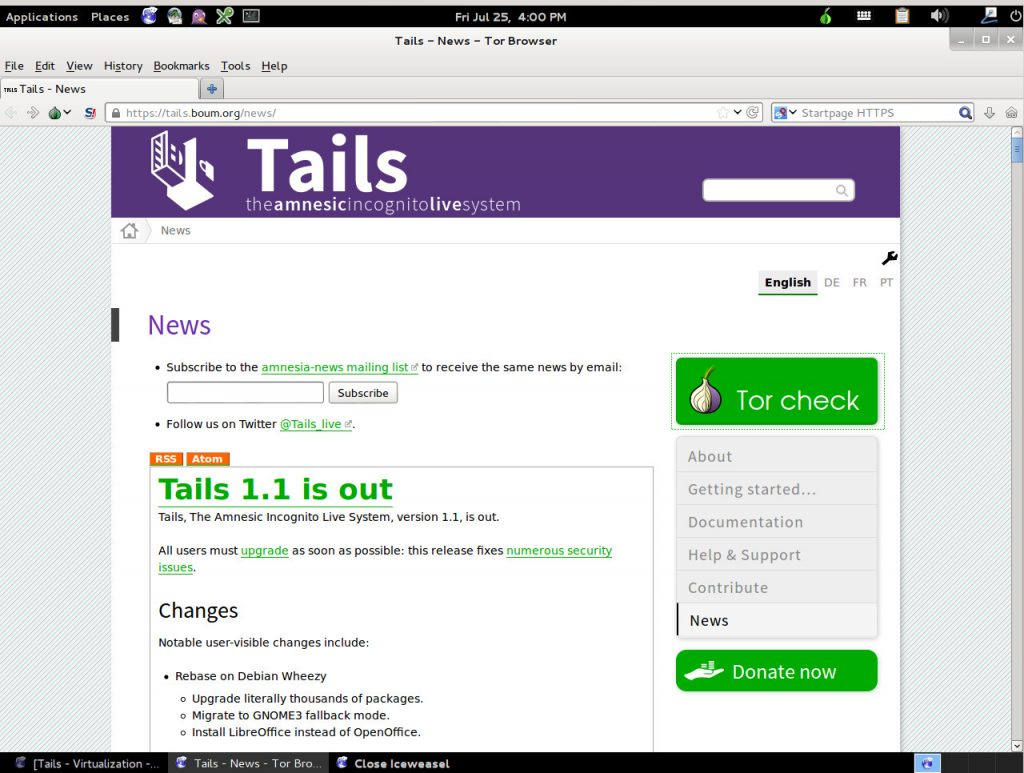 Tails project home page