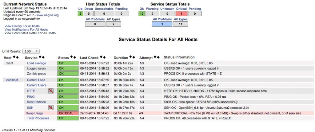 Fig.03: Nagios status (click to enlarge)