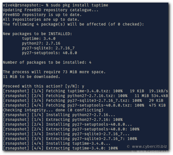 Linux See Historical and Statistical Uptime of System With tuptime