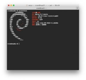 Screenfetch on Debian Linux