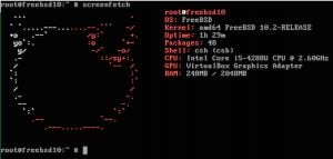 Screenfetch on FreeBSD