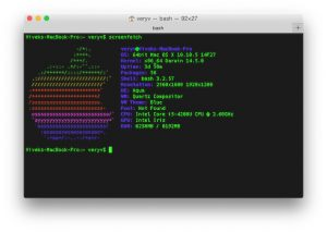 Screenfetch on OS X