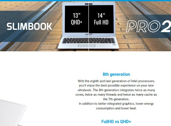 Slimbook Linux Preloaded Laptop and Desktop