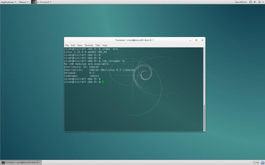 Debian 8.3 Desktop (click to enlarge)
