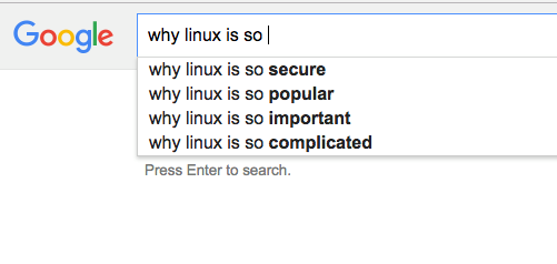 Linux as per mighty Google