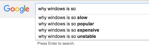 MS-Windows as per mighty Google