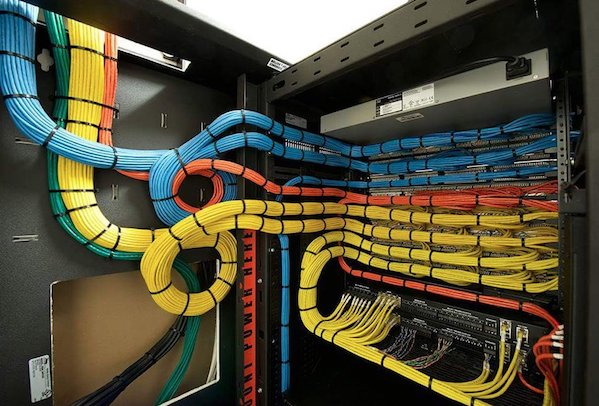 Cable Laying On Ground Art : Eyegasm awesome cable management moment of zen nixcraft