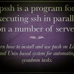 How to use parallel ssh (PSSH) for executing ssh in parallel on a number of Linux/Unix/BSD servers