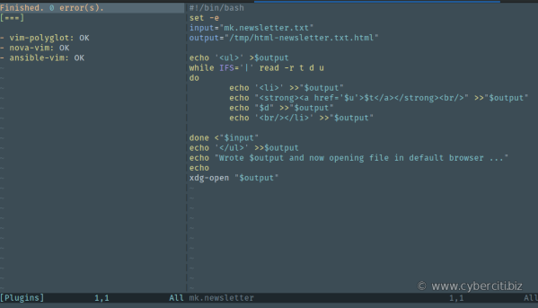 vim-plug - An awesome vim plugin manager for Linux and unix