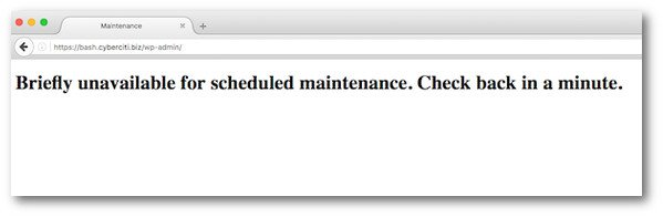 Fig.01: How to Fix Briefly Unavailable for Scheduled Maintenance Error in WordPress