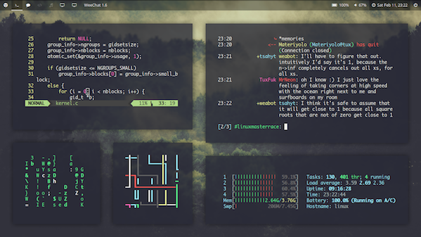 [bspwm + polybar] Trying to get a modern look