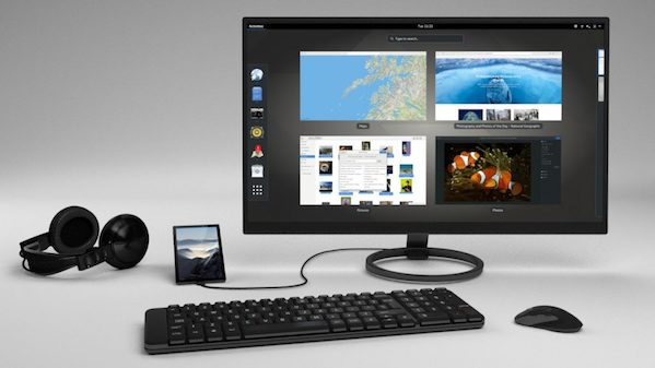 A full desktop computer with an option for a compatible keyboard, mouse, and monitor.
