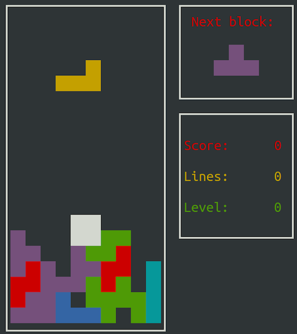 Fig.01: Evil falling block game
