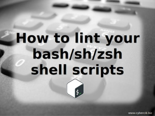 how to lint your bash sh zsh shell scripts on linux unix macos