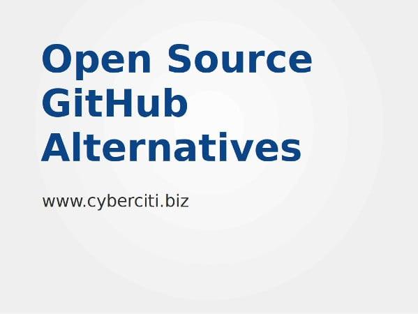 Open Source GitHub Alternatives