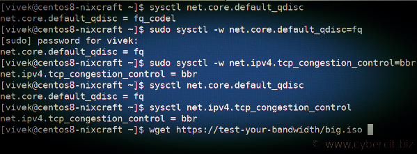 tcp stack of CentOS
