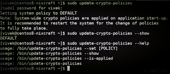 Manage the policies available to the various cryptographic back-ends