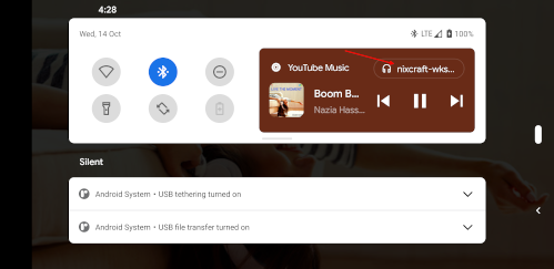 Google Android Pixel blast music to Linux destop