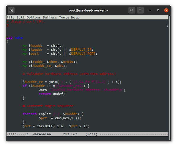 Emacs command line text editors screenshots for developrs