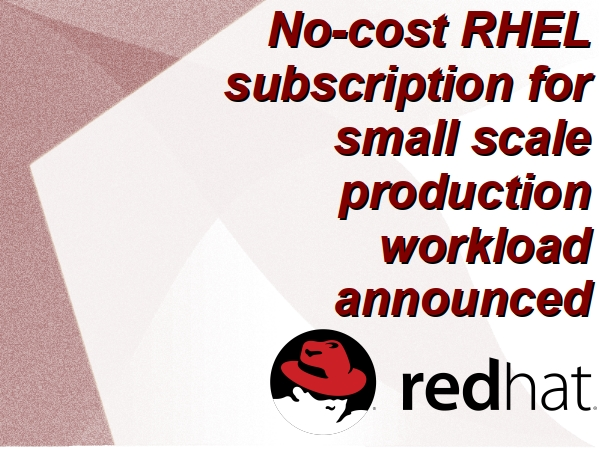 Red Hat introduces new no-cost RHEL option