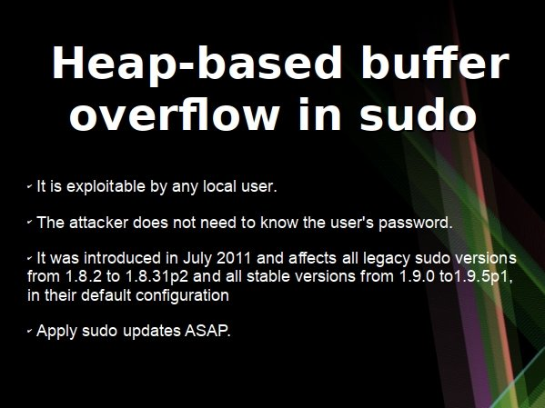 heap based sudo bug