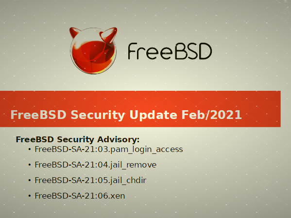 FreeBSD jail, xen, and .pam_login_access security fixes released