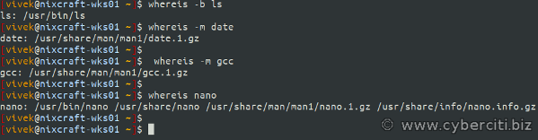 Encontrar la ruta de las páginas binarias, fuente y manual en Linux