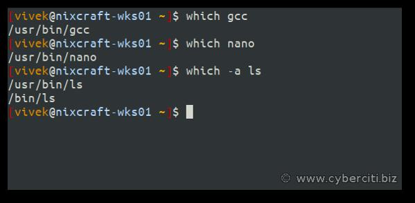 Qué comando usar para obtener la ruta de un comando de Linux