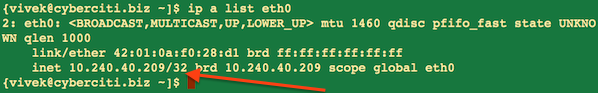 Fig.02 ip command in action