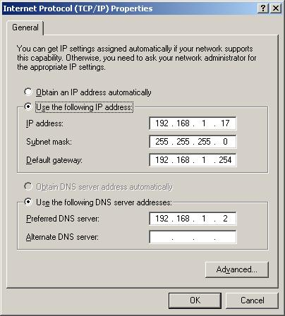 Get the DNS Server Address