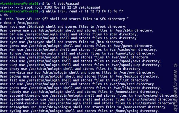 Understanding /etc/passwd file format