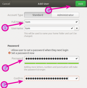 Add a new user on Ubuntu Linux