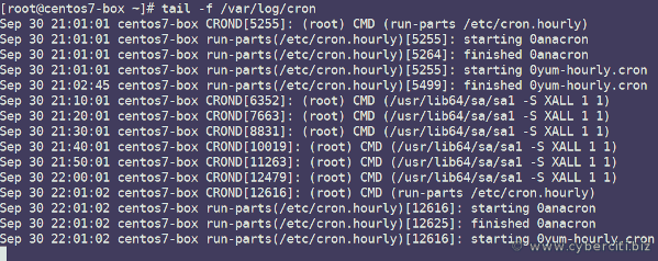 Linux cron jobs and log files