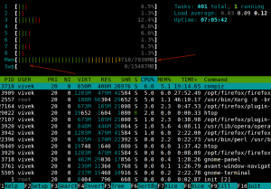 Fig.03: Linux Check Amount Of Physical Memory With htop Command