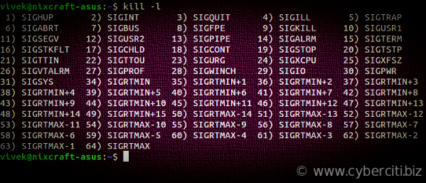 Kill Process in Linux or Unix using the kill command signals