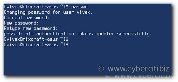 Linux Change User Password
