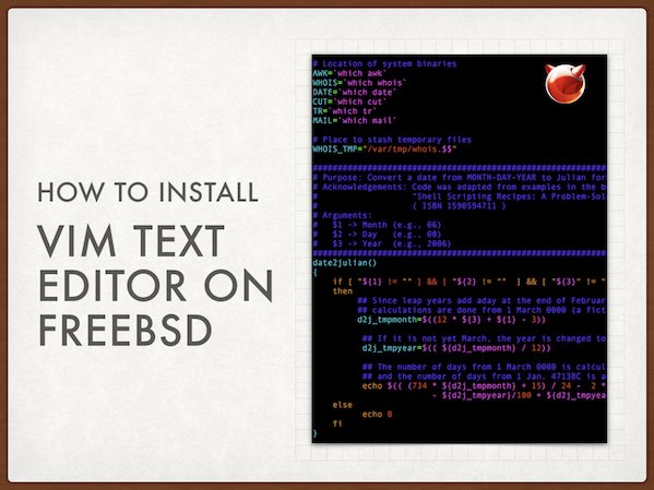 FreeBSD install VIM text editor