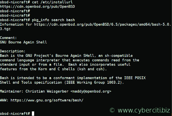 OpenBSD Install BASH Shell
