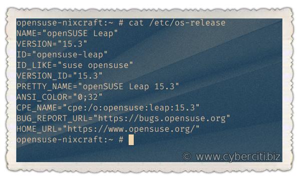 Cómo encontrar la versión de openSUSE Linux