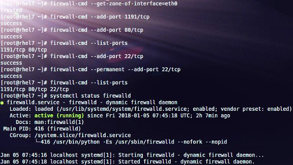 How to open a port in the firewall on CentOS or RHEL