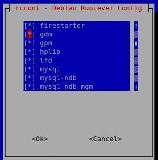 Ubuntu / Debian Runlevel configuration tool